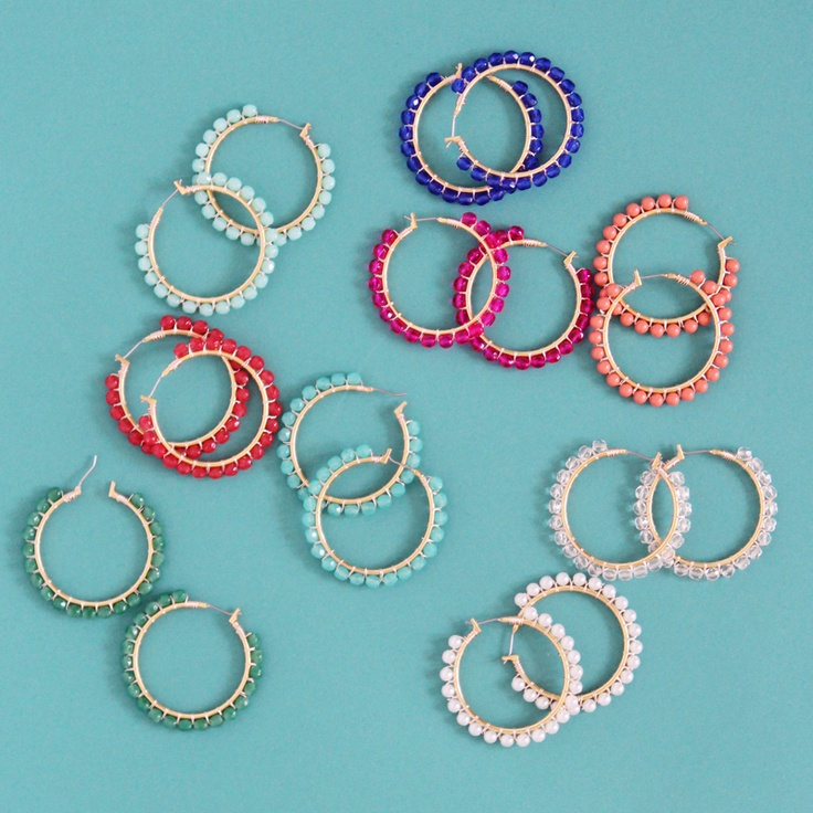 beaded hoop earringsBeads Earrings, Jewelry Inspiration, Beads Hoop, Diy Jewelry, Hoop Earrings, Personalized Stylelust, Beads Jewelry, Interesting Earrings, Jewelry Diy