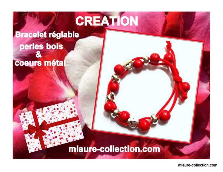 Une création parfaitement adaptée à la fête de la saint Valentin, coloris symbolique.