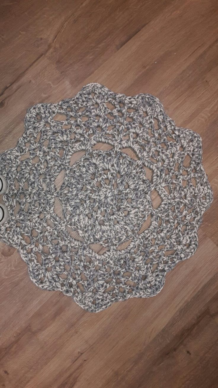 My first crochet doily rug for our new room