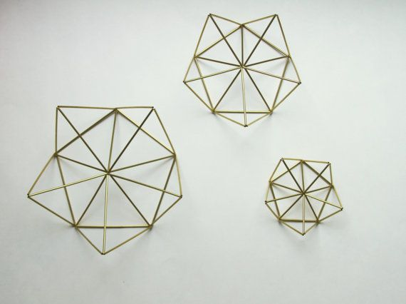 mother and child  Set of 3 Geometric himmeli air by meginsherry
