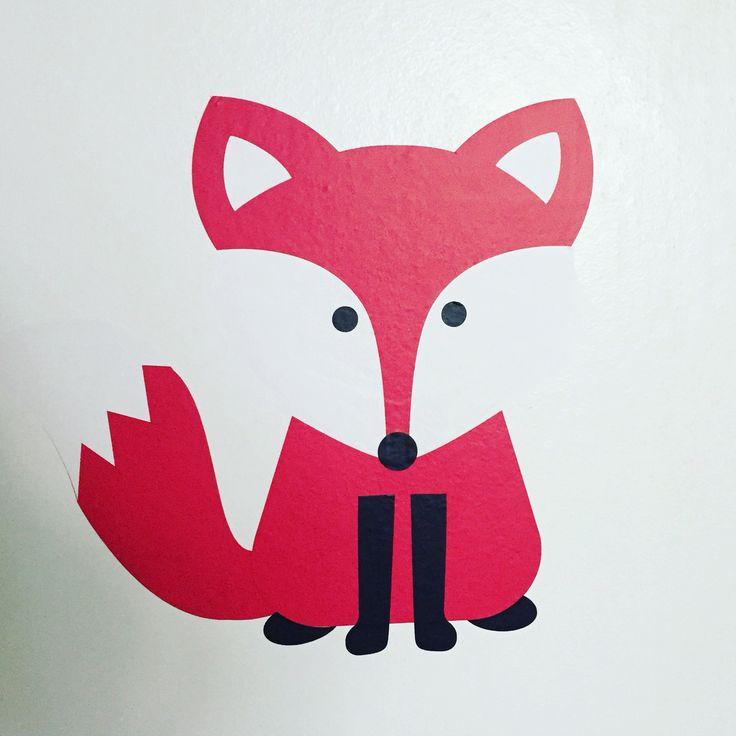 Diy, silhuette cameo, fox, räv, färg, barnrum