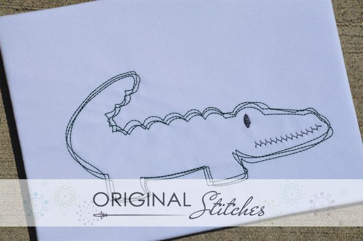 Gator - Quick Stitch, Machine Embroidery and Applique Designs Downloads | Original Stitches - Embroidery and Applique Design Store