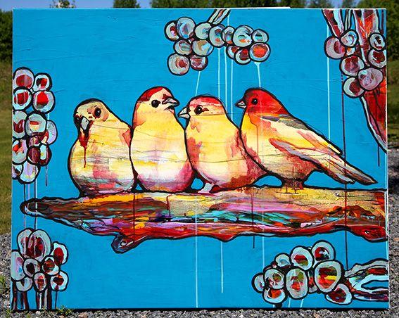 «Kanarisang». Akryl på lerret. 80x100 cm