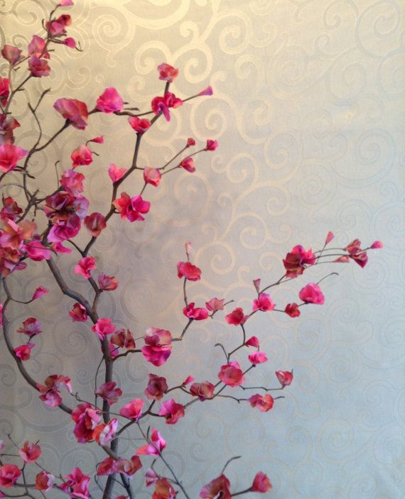 Fake Tree For The Living Room Or My Bedroom Hand Crafted Artificial  Bougainvillea By 4everBloomsBoutique,