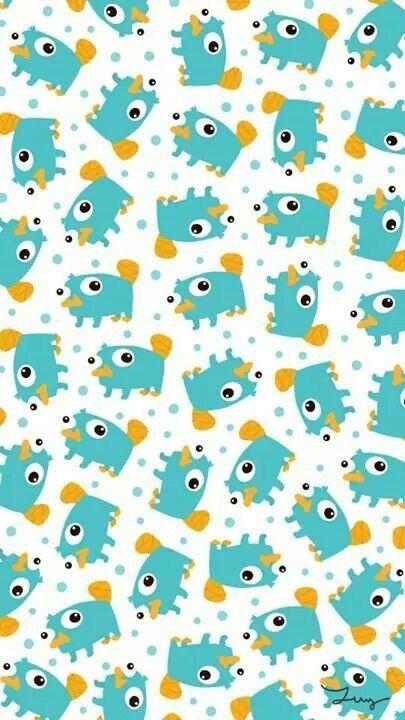 [人気キャラ大盛り]ペリー/フィニアスとファーブ iPhone壁紙 Wallpaper Backgrounds iPhone6/6S and Plus Phineas and Ferb Pattern iPhone Wallpaper