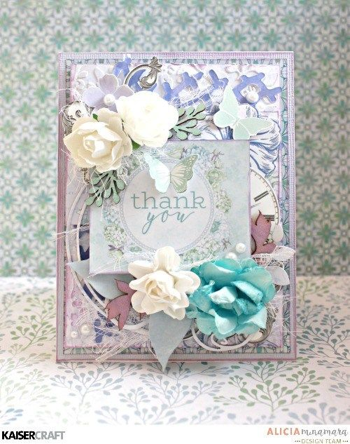 Kaisercraft Lilac Whisper Card by Alicia McNamara