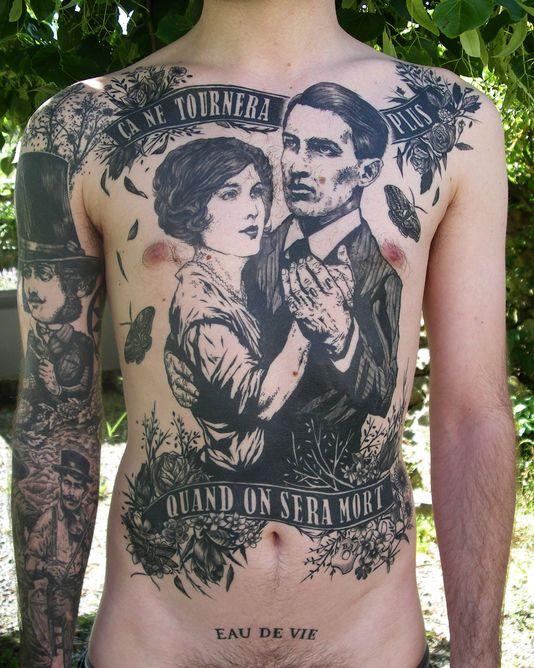 Un tatouage signé Jean-Luc Navette.