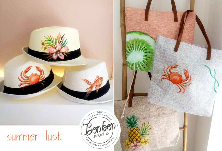 hand-painted summer bags & hats
