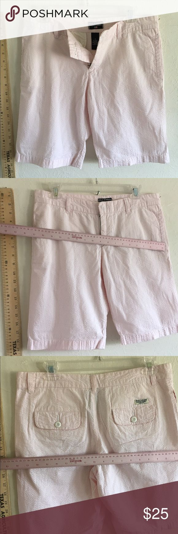 Pink gingham seersucker check shorts Ralph Lauren! Unworn shorts size 6 Ralph Lauren really cute Ralph Lauren Shorts