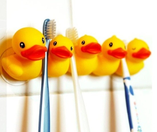 Duck Characters Family Bathroom Toothbrush Holder