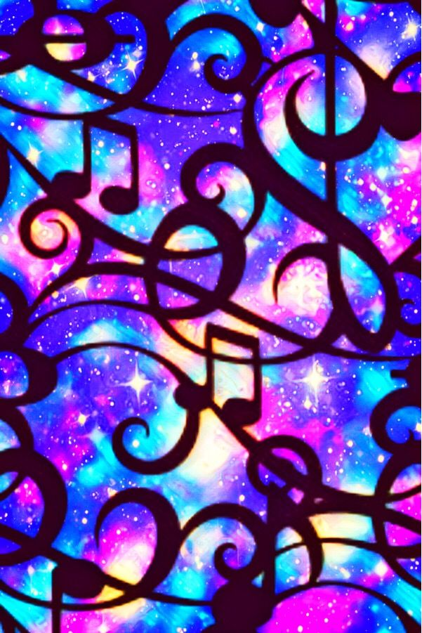 Wallpaper Lockscreen Glitter Sparkle Galaxy Music Musicnotes Pattern Purple Colorful Stainedglass Music Wallpaper Galaxy Wallpaper Unicorn Wallpaper