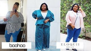 e88e156a8ca Want to know how Eloquii and Boohoo will fit your plus size frame. Watch  this plus size fashion haul to see how these clothes fit my body type.