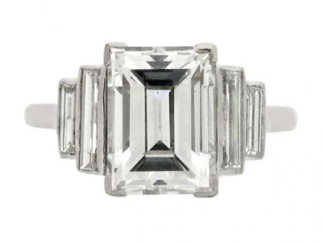 Art Deco diamond ring, circa 1935 from Berganza London Hatton Garden