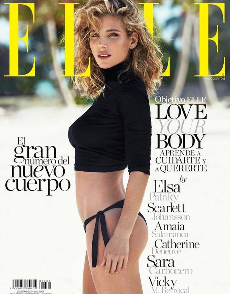 Elsa Pataky by Xavi Gordo for Elle Spain May 2017 Cover
