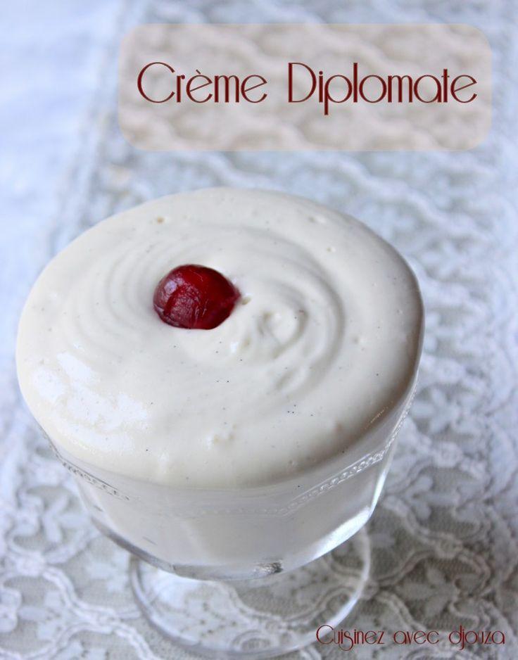 Crème diplomate inratable et facile en image