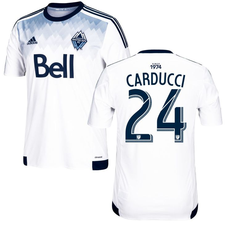 Marco Carducci 24 Vancouver Whitecaps FC 2016/17 Home Soccer Jersey Deep Sea White