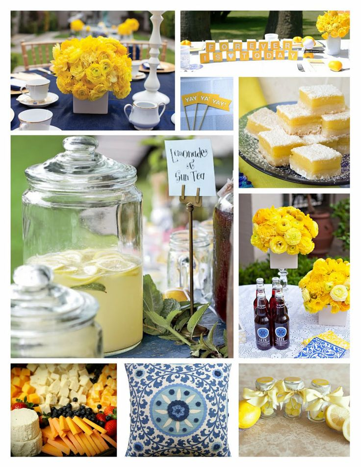 turquoise and yellow wedding ideas | this saturday we are hosting a blue and yellow bridal