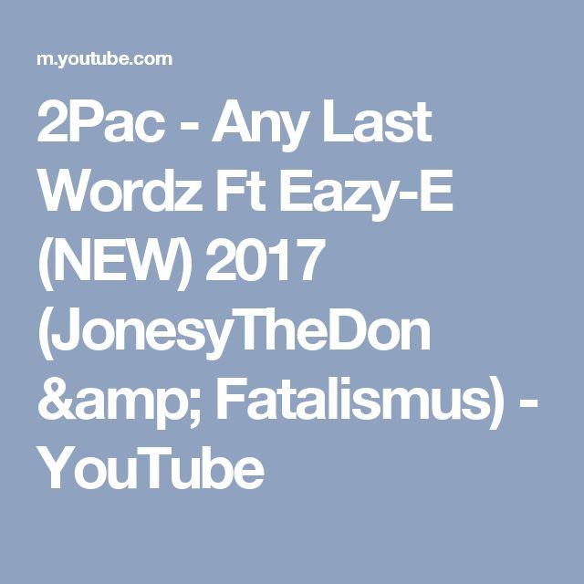 Any last words eazy lyrics