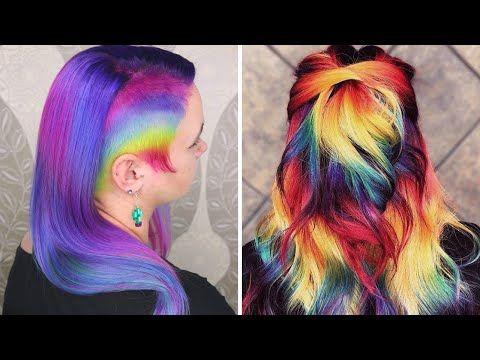 Transformaciones De Color De Cabello. Arcoiris & Unicornio/UNICORN RAINBOW HAIR COLOR TRANSFORMATION - YouTube Hairstyle Trends, Videos, Youtube, Haircolor, Unicorn, Youtubers, Youtube Movies