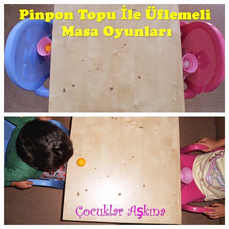 Çocuklar Aşkına: Pinpon Topu ile Üflemeli Masa Oyunları