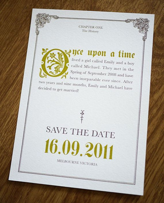 Once Upon A Time Save The Dates Disney Wedding In 2019