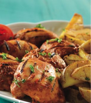 Piri Piri Chicken with Spiced Potato Wedges - Clean Eating - Clean Eating