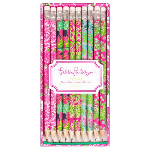 Lilly Pulitzer Pencil Set | Lifeguard Press | http://www.lifeguardpress.com/product/lilly-pulitzer-pencil-set?display=968