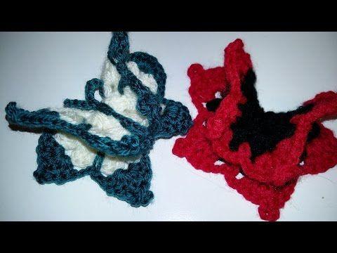 "(2) ""DY""Tutorial Mariposa en 3 D a Crochet,muy fácil de realizar - YouTube"