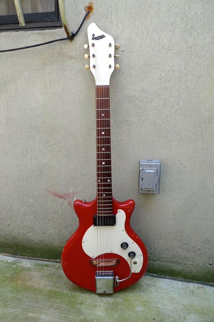 1960's Supro Vintage Red Guitar