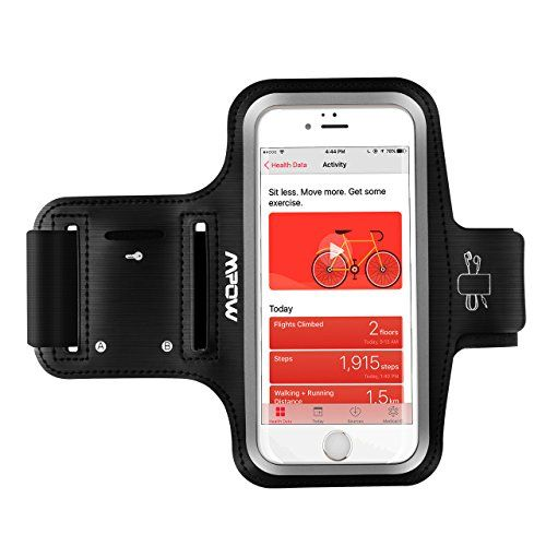 From 6.99:Mpow Running Armband (for iPhone 7 / 6s / 6 up to 5.1 inches) iPhone Running Sport Armband  Earphone and Key Holder Adjustable Size Safety Design for Exercise Gym Jogging Cycling Hiking Walking - with Extension Strap