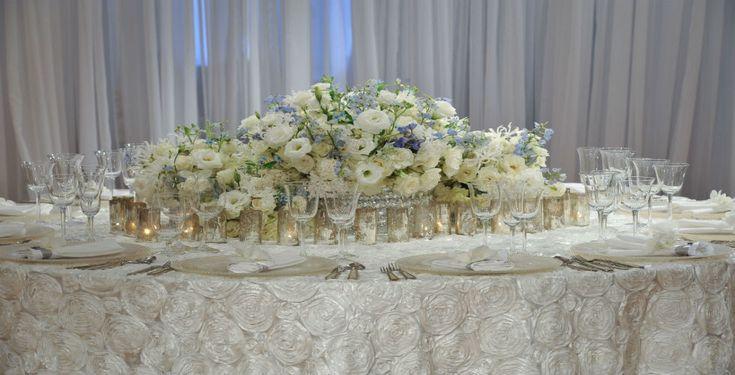 Low White Flower Centerpiece