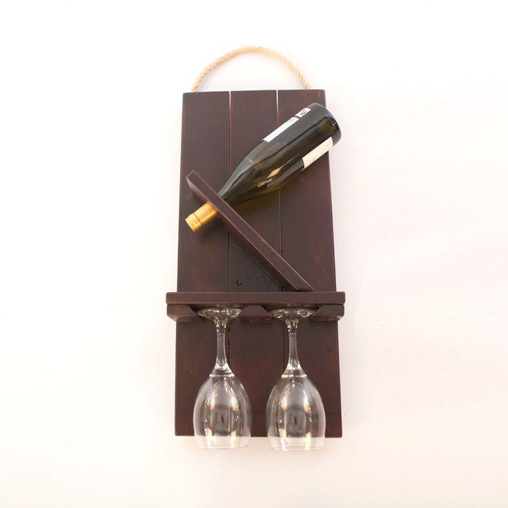 Botellero de pared hecho con palets bodega pinterest - Botelleros de pared ...