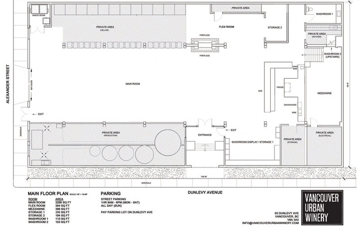 Floor plan layout vancouver urban winery places i want to go pinterest wedding venues - Lay outs grond helling ...