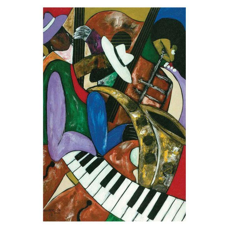 Louis Leonard Art Jazz Composers by Kelvin Henderson Canvas Wall Art - KEH001-1827