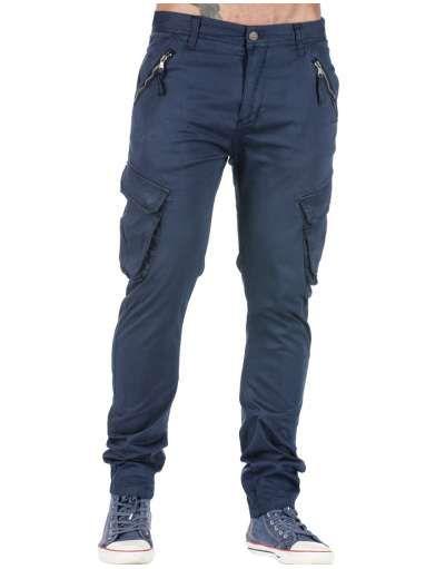 ΑΝΔΡΙΚΑ ΡΟΥΧΑ :: Παντελόνια :: Παντελόνι Cargo New Age Dark Blue - OEM