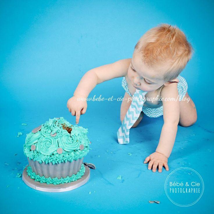 Séance de Smash cake avec gâteau de #SweetKate / #cakedesign / #Smashcake
