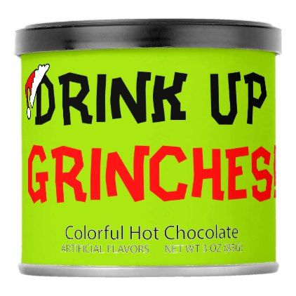 Drink Up Grinches Holiday Hot Chocolate Mix - kitchen gifts diy ideas decor special unique individual customized