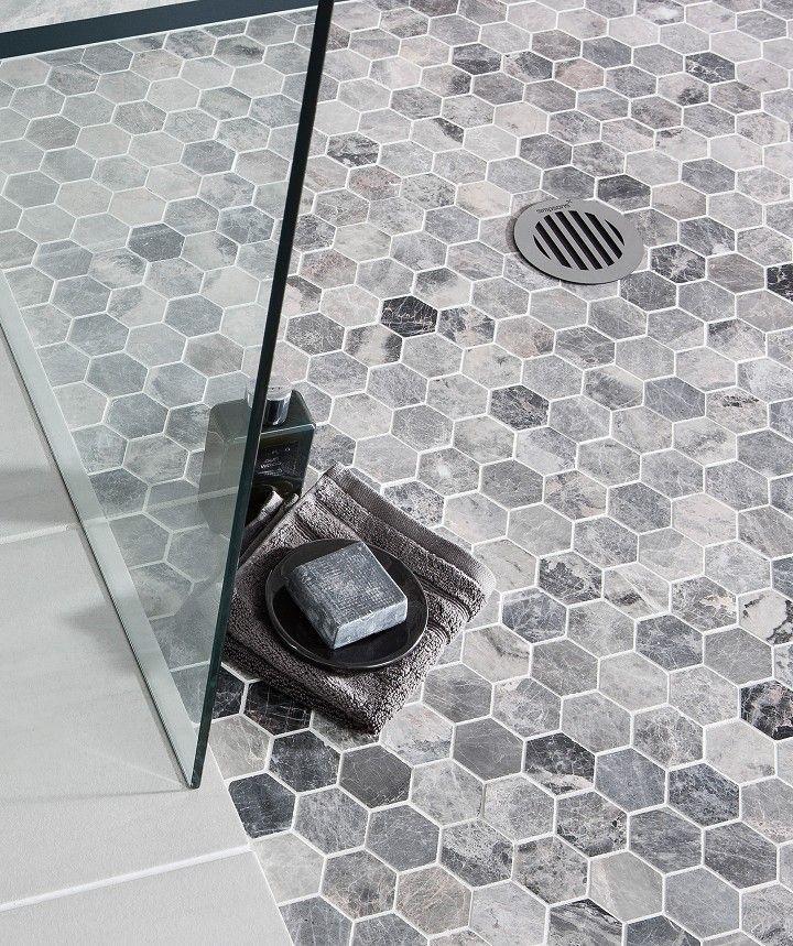 Lantau Grey™ Mosaic Hexagonal Tile