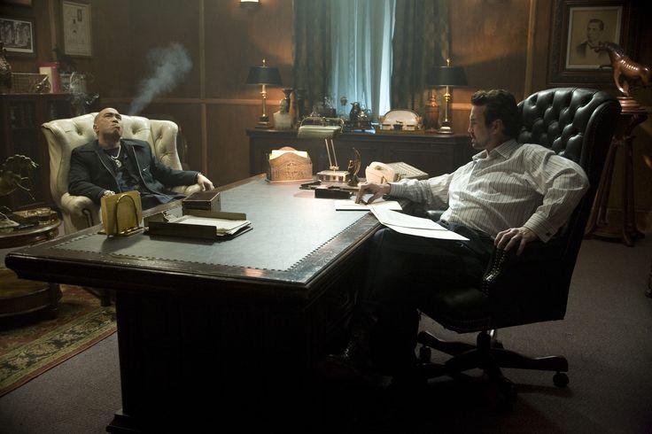 Simon (Ron Yuan) and Frank (Gary Stretch) discuss the grim future...