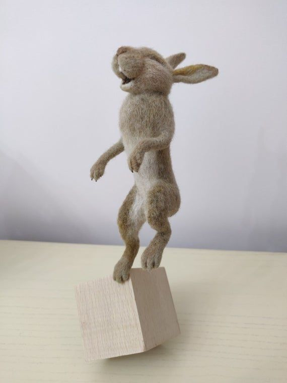 Hare Wool,felted  hare,Needle felted hare,Wool animals Easter rabbit Easter gifts Easter bunny,Bunny felt,Felted animals