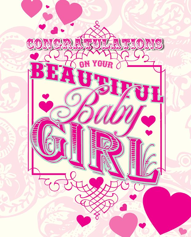 Congratulations On New Baby Girl Quotes: 7 Best Images About New Baby Cards On Pinterest