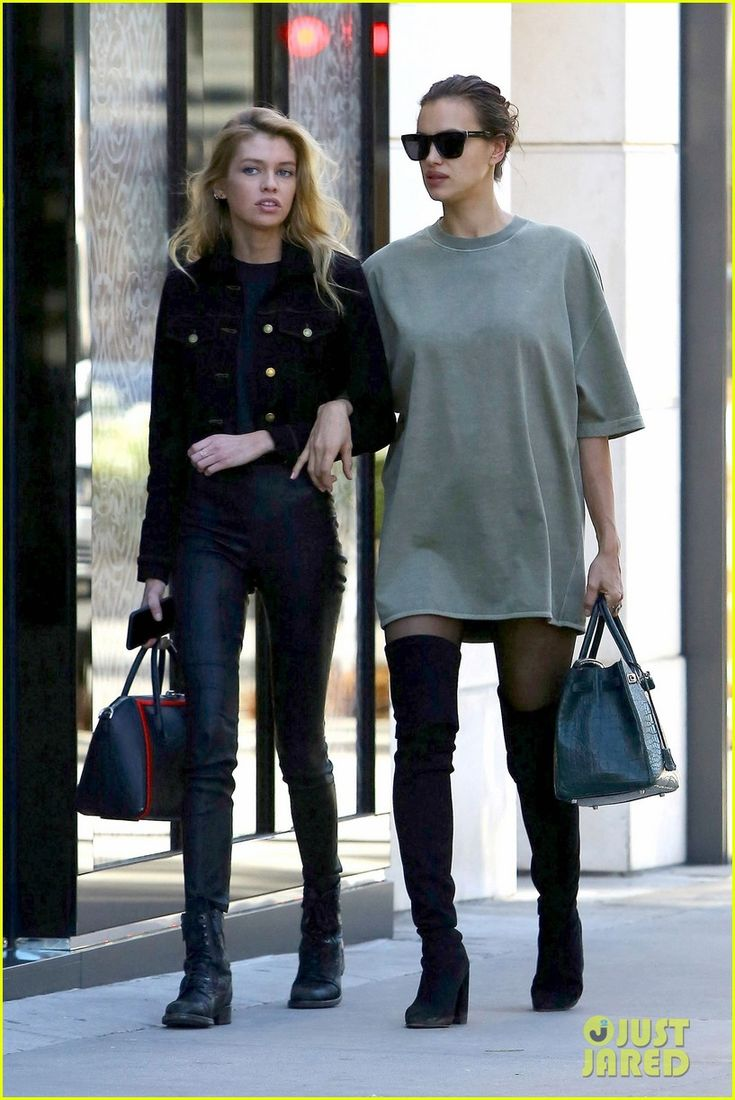 Pregnant Irina Shayk Goes Shopping with Pal Stella Maxwell!