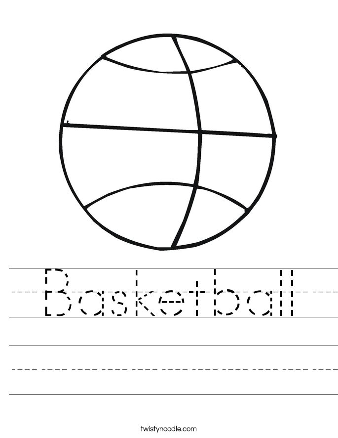 Coloring Sheet B For Basketball