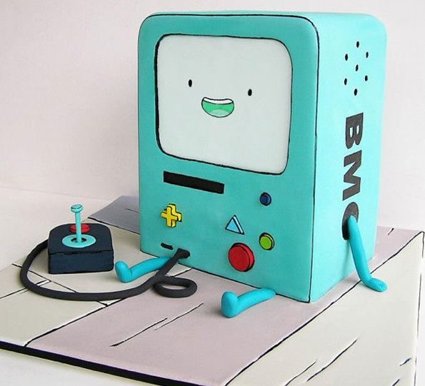 Adventure Time BMO cake! Who wants to play video games?