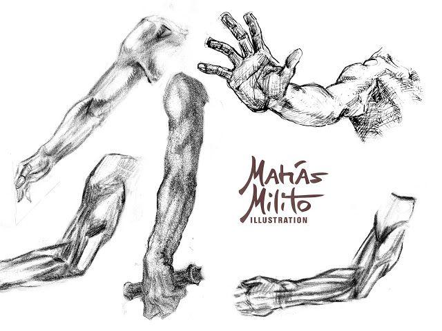 DRAWING ARMS AND OTHER SKETCHES / DIBUJANDO BRAZOS Y OTROS BOCETOS