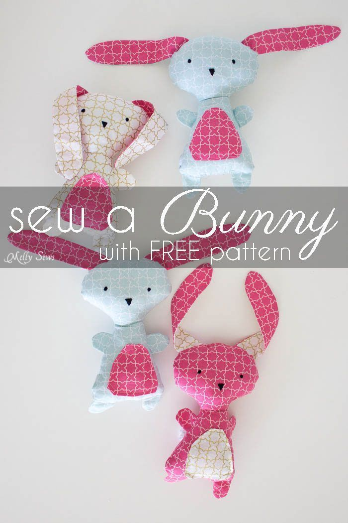 223 best bunnies images on pinterest rabbit easter crafts and diy easter bunny wonderland fabrics plush patternfree negle Images