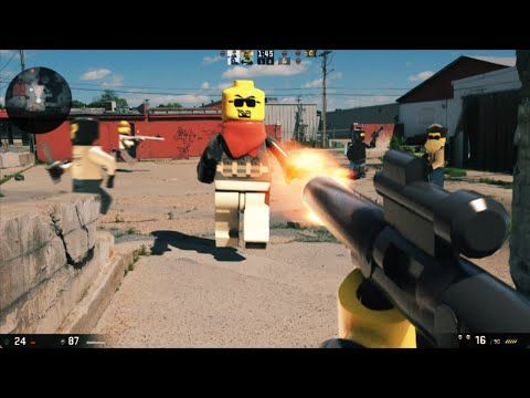 A Live-Action Special Effects Video of Popular First-Person Shooter Video Games Recreated With LEGO Minifigs