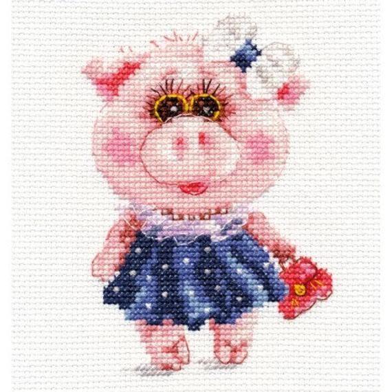 Alisa Cross Stitch Kit Monkey