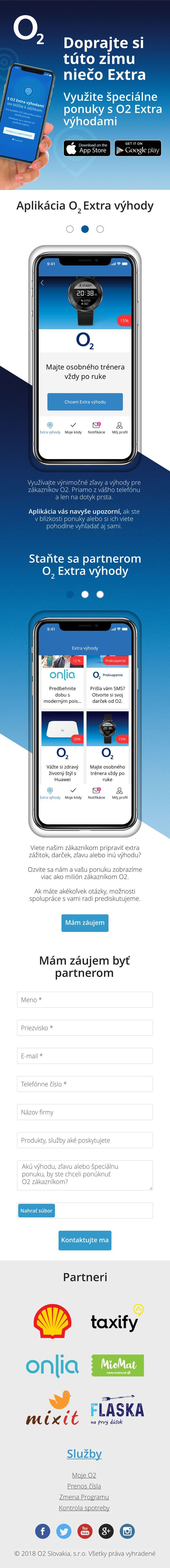 o2 microsite for smartphone