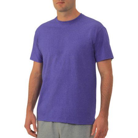 4XL Fruit of the Loom Men/'s Platinum Eversoft Short Sleeve Crew T-Shirt 3XL